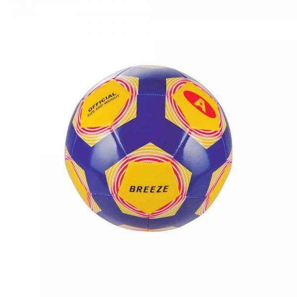 "Material deportivo escolar. Balón fútbol 11, Talla 5 modelo ""Breeze"" cuero sintético. Peso y talla oficial, para campo de hierba."