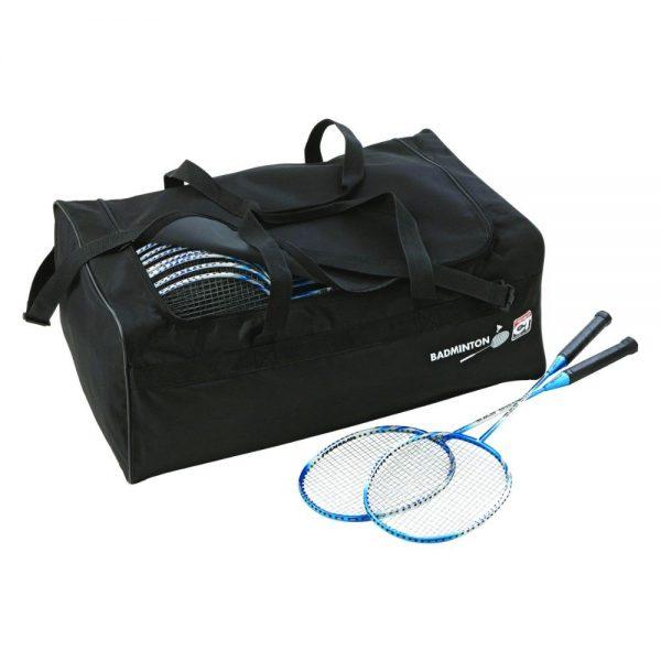 Material deportivo para colegios. Bolsa raquetero de nylon reforzada para transportar hasta 40 raquetas raquetas badminton