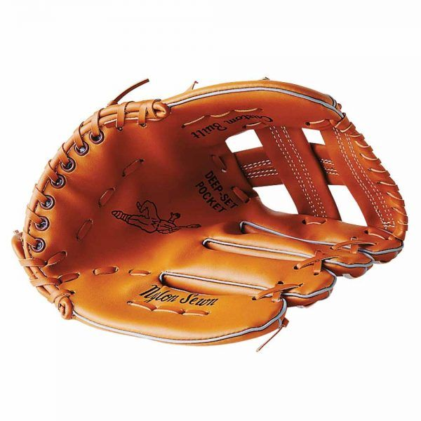 Material deportivo para educacion fisica. Guante beisbol mano izquierda para diestros de piel sintética