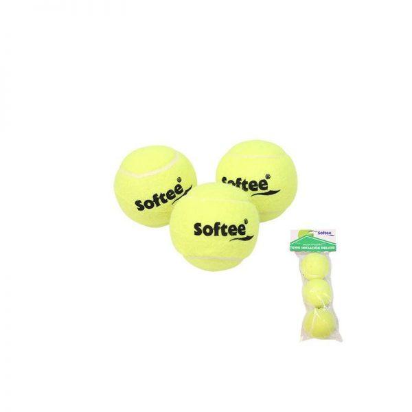 Material deportivo para colegios. Pelota de tenis baja presión, bote medio, Iniciación. Precio indicado por una unidad