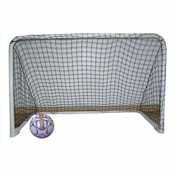 Material deportivo para educacion fisica. Porteria de hockey metálica con redes