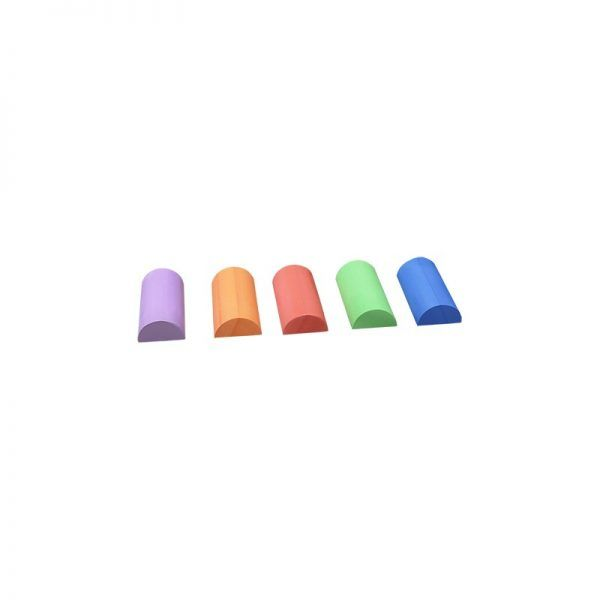 Material deportivo escolar. SemiCilindro de pilates material EVA. Altura semicilindro 7,25 cm x Longitud 30 cm.