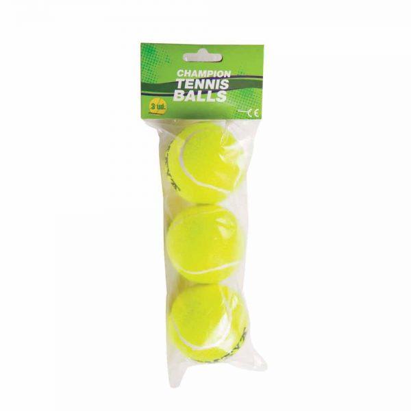 Material deportivo para colegios. Pack de 3 pelotas de tenis alser para entrenamiento